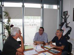 Clube Naval de Angra, na Terceira com Augusto Silva e José Augusto