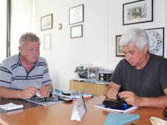 Clube Naval da Horta com o Presidente José Deq Mota