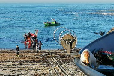 Vila Chã, chegada dos barcos da faina