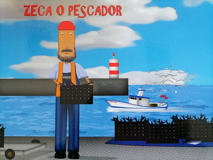 """Excerto do Livro """"As Profissões do Mar"""", do projeto Mar de Experiências - autoria de Teresa Azevedo e ilustrações de Bruno Costa."""